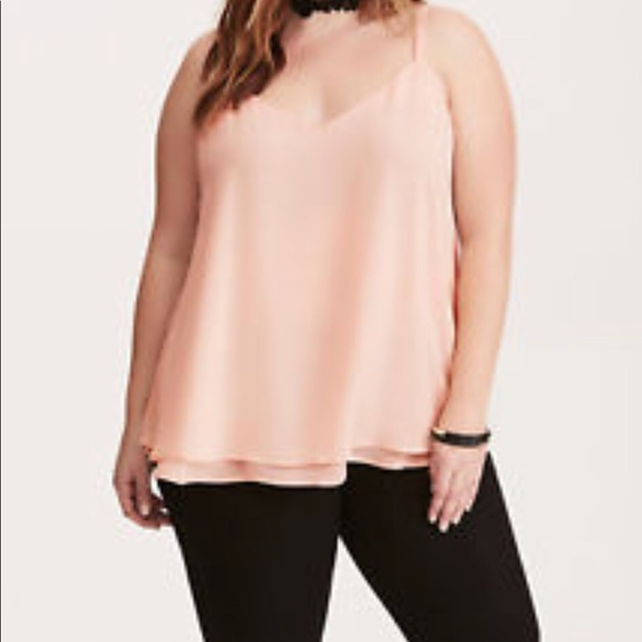 886b4e911d3 Torrid double layer chiffon cami blush 2x